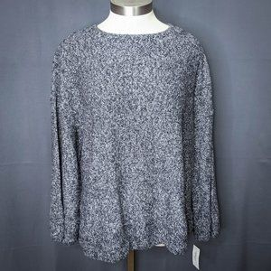 Style & Co Womens Sweater Plus 2X Gray Marled